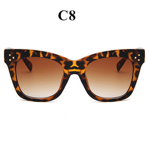 Bad Kitty! Women's Luxury Oversized Gradient Sun Glasses