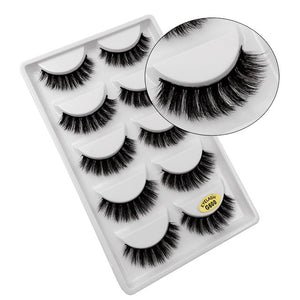 Lash Out! 5 Pairs of 3D Natural Thick Magnetic Mink lashes