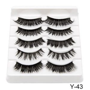 Wink Wink! 5 Pairs 3D Mink Eyelashes Natural/Thick Long
