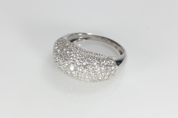 2.02 carats/Fabulous Pave cigar band