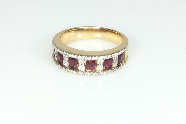 Brilliant Ruby and Diamond Band