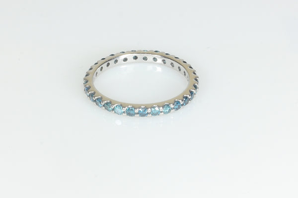 Blue and White Diamond Infinity Band