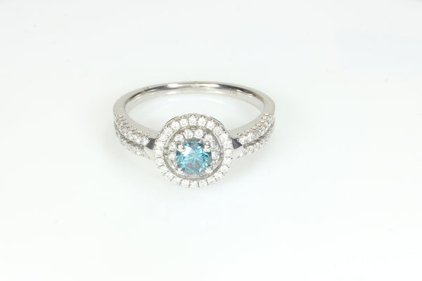 Blue Diamond circled by white diamonds