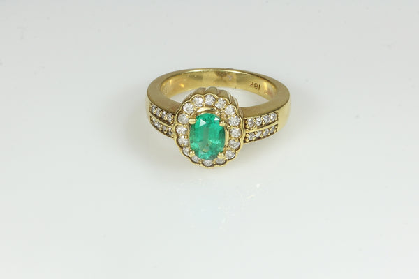 Emeralds Enveloped in Diamonds