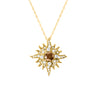 Original-Size Yellow Gold Caribbean Sun Necklace with Natural Brown Diamonds