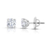 Platinum white diamond stud earrings, stunning 10.04 total carat weight