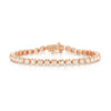 14K Rose Gold and 3.04 Carat Diamond Tennis Bracelet