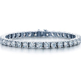 18K White Gold 6.24 Carat Diamond Tennis Bracelet