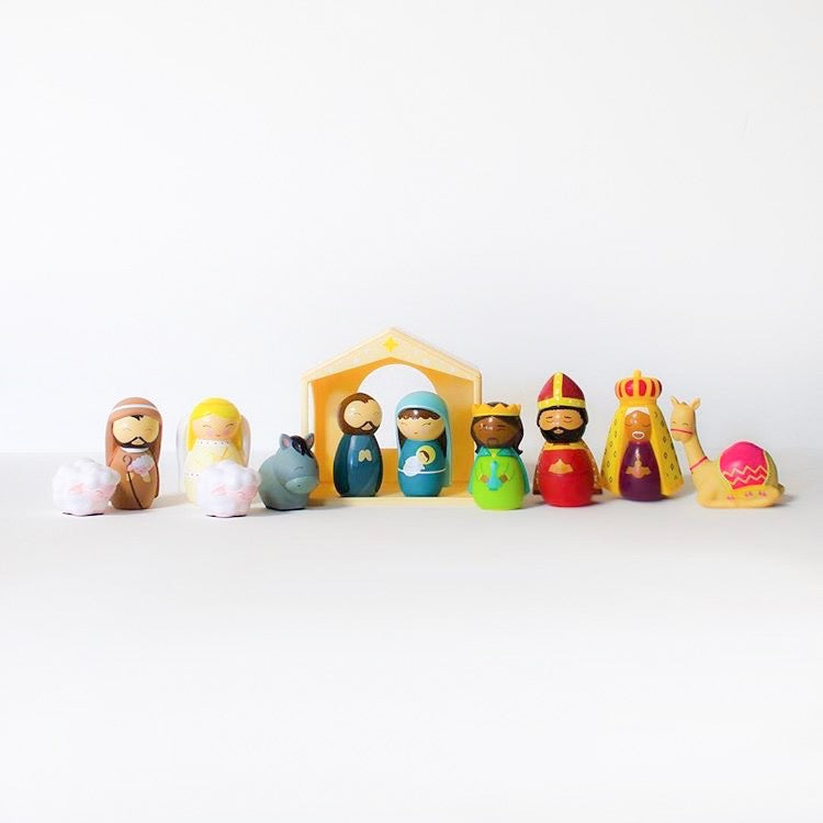 The Complete Shining Light Dolls Nativity Set
