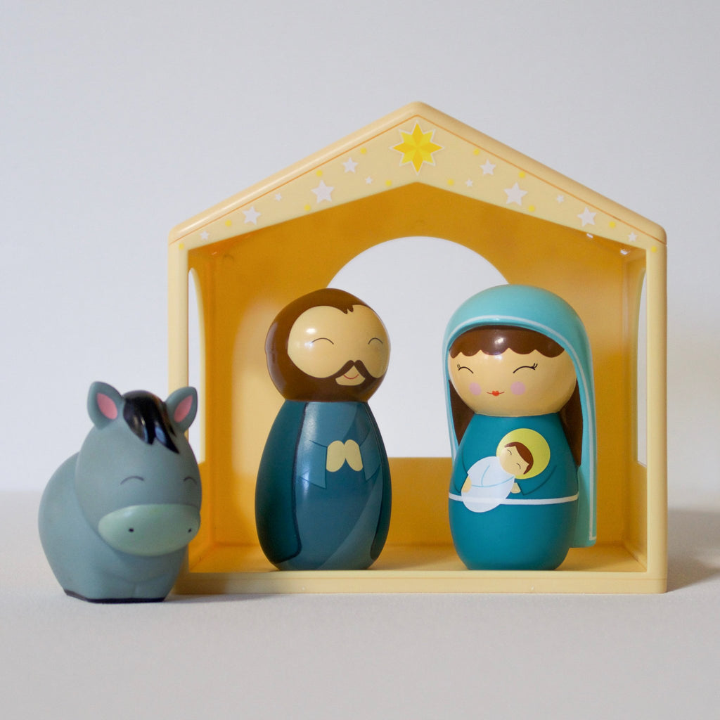 The Holy Family Shining Light Dolls Nativity Set