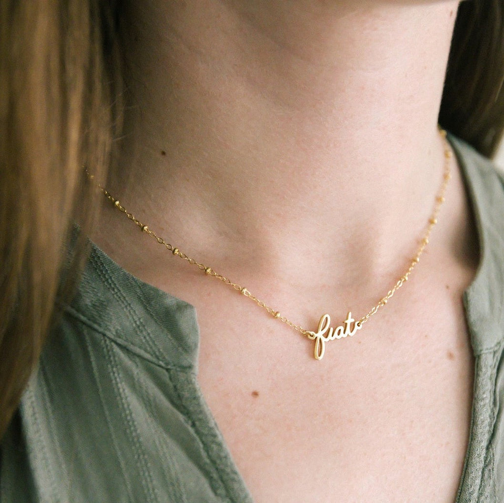 Fiat Necklace (14k gold-plated/filled)