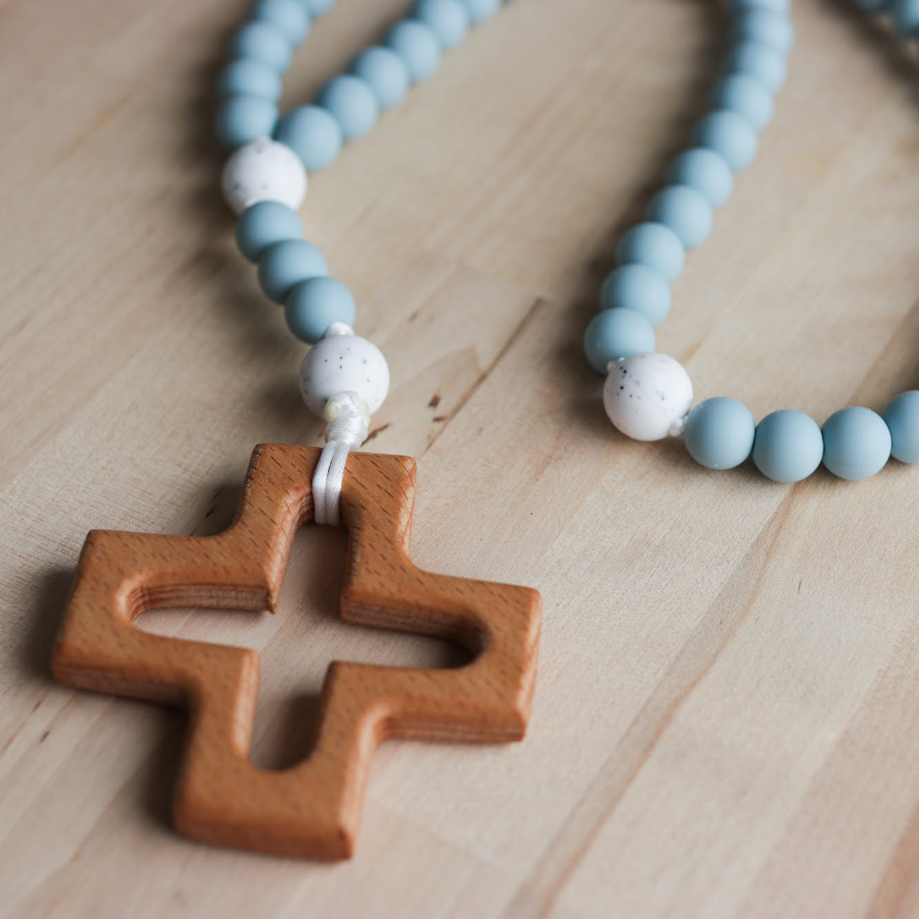 Rosary for Littles in Soft Blue