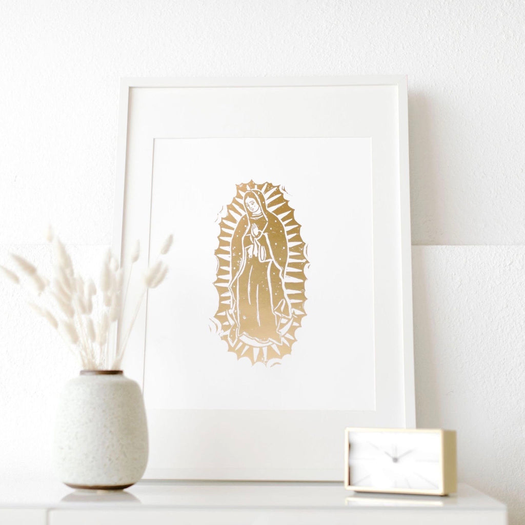 'Gold Leaf Virgin of Guadalupe' Print (16x20)