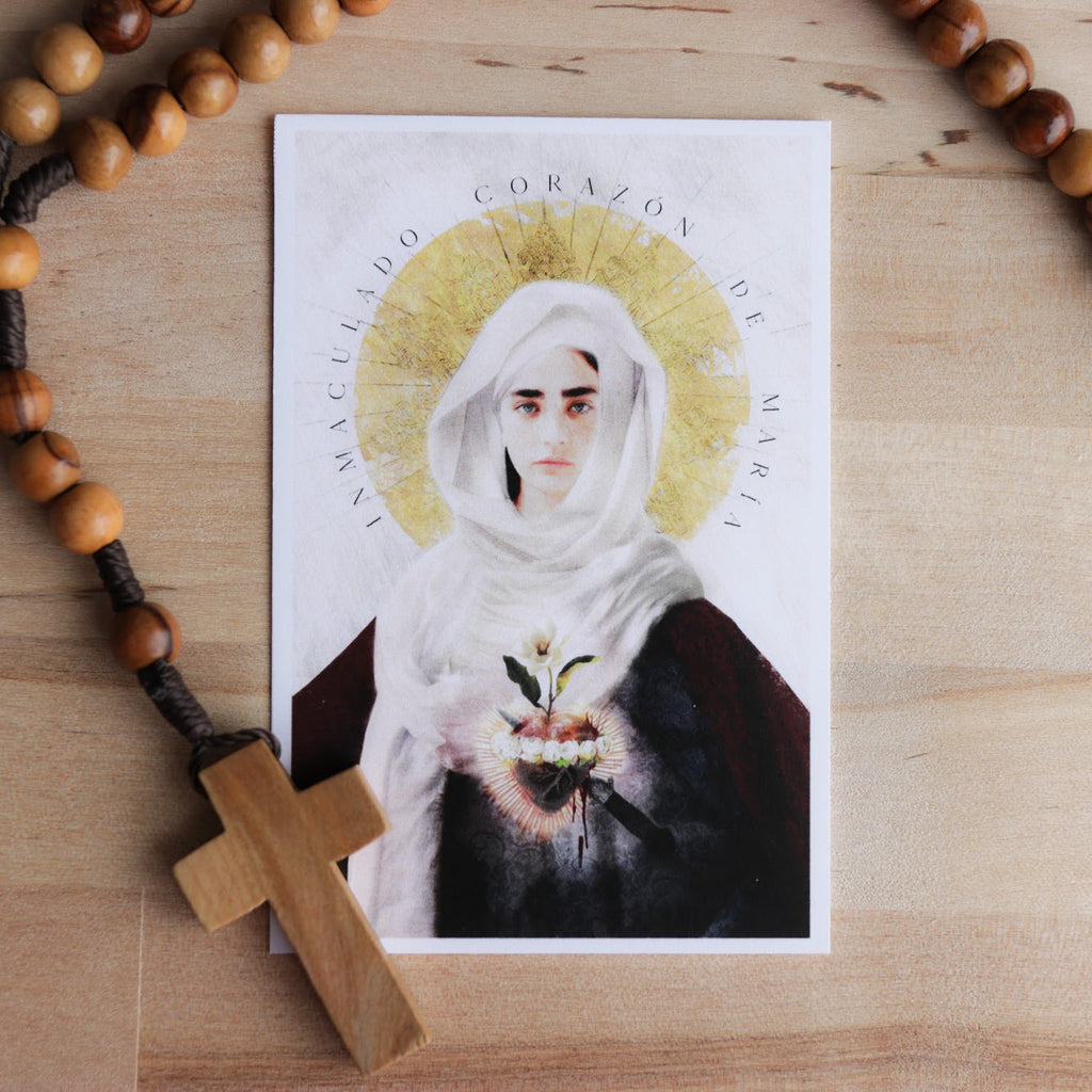'Immaculate Heart of Mary' Prayer Card