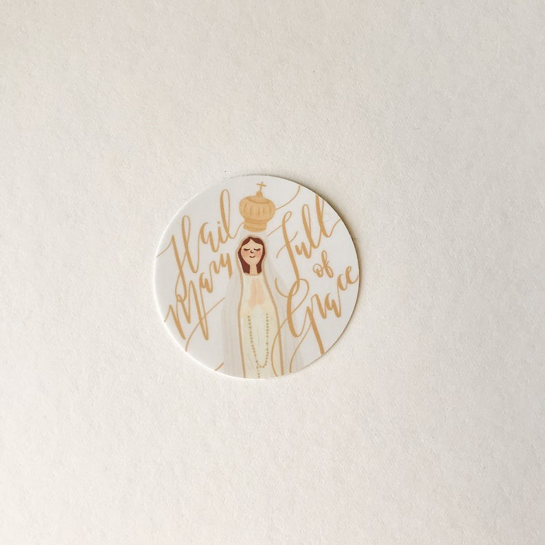 'Hail Mary' Vinyl Sticker