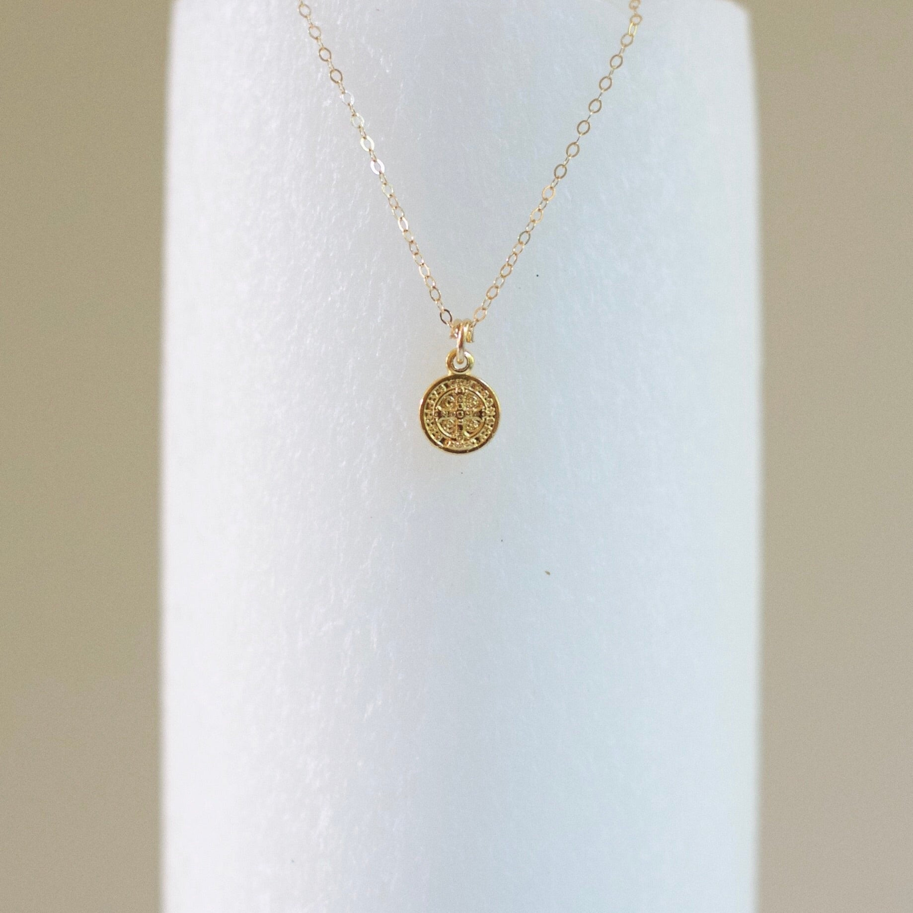 St. Benedict Necklace (14k gold-filled)