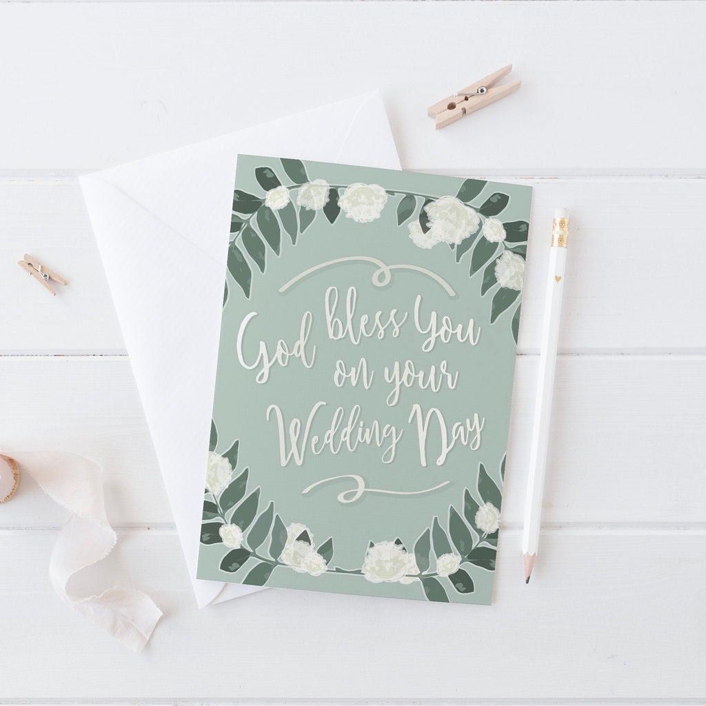 'God Bless You on Your Wedding Day' Greeting Card