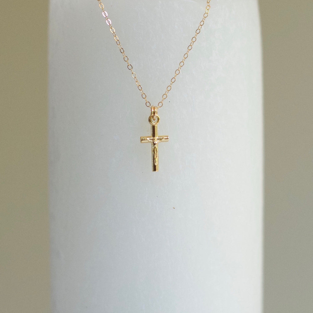 14k Gold-Filled Crucifix Necklace
