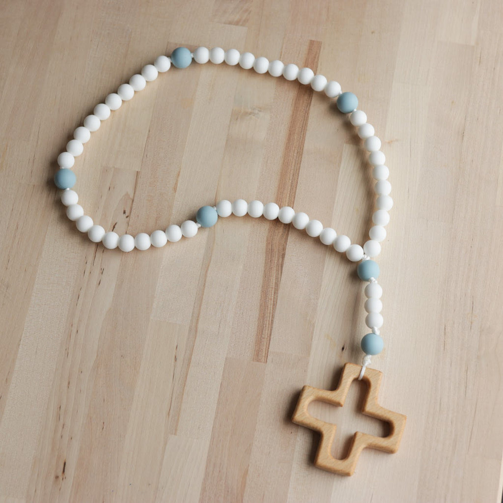 Rosary for Littles in White