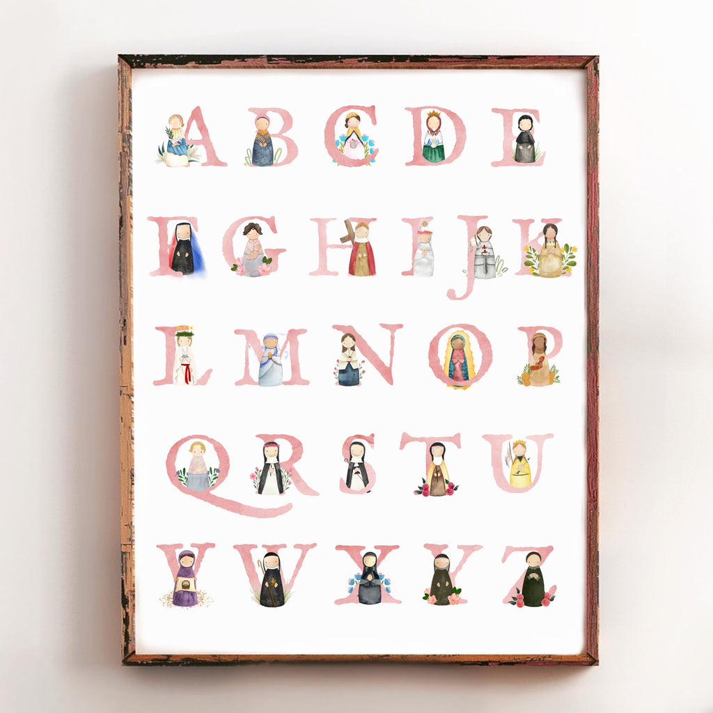 *LOW STOCK* Alphabet Saints Poster - GIRLS (16x20)