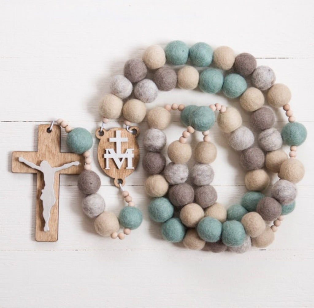 Our Lady of Queen of Ireland Wall Rosary