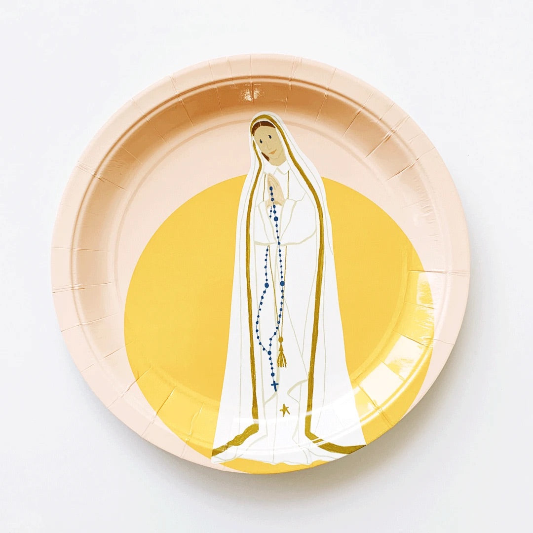 'Our Lady of Fatima' Paper Plates