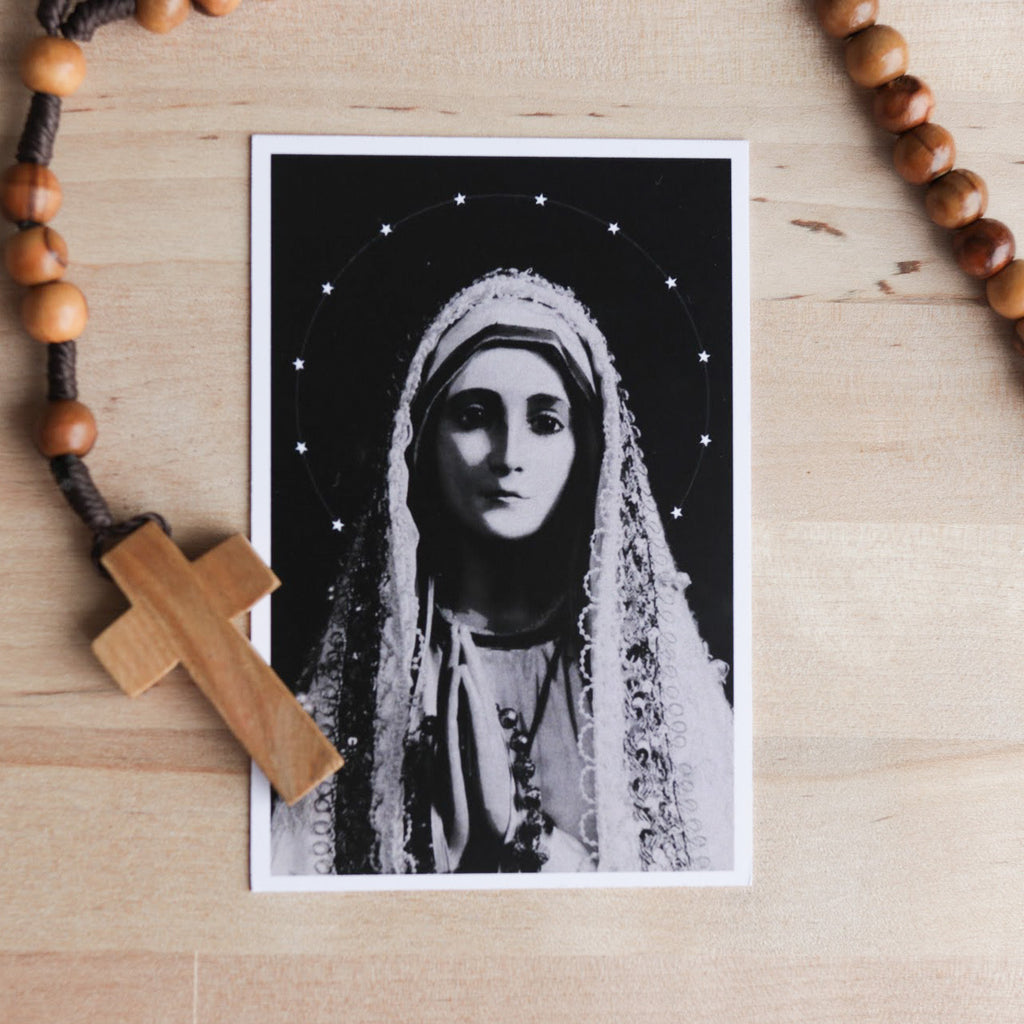 'Our Lady of Fatima' Prayer Card