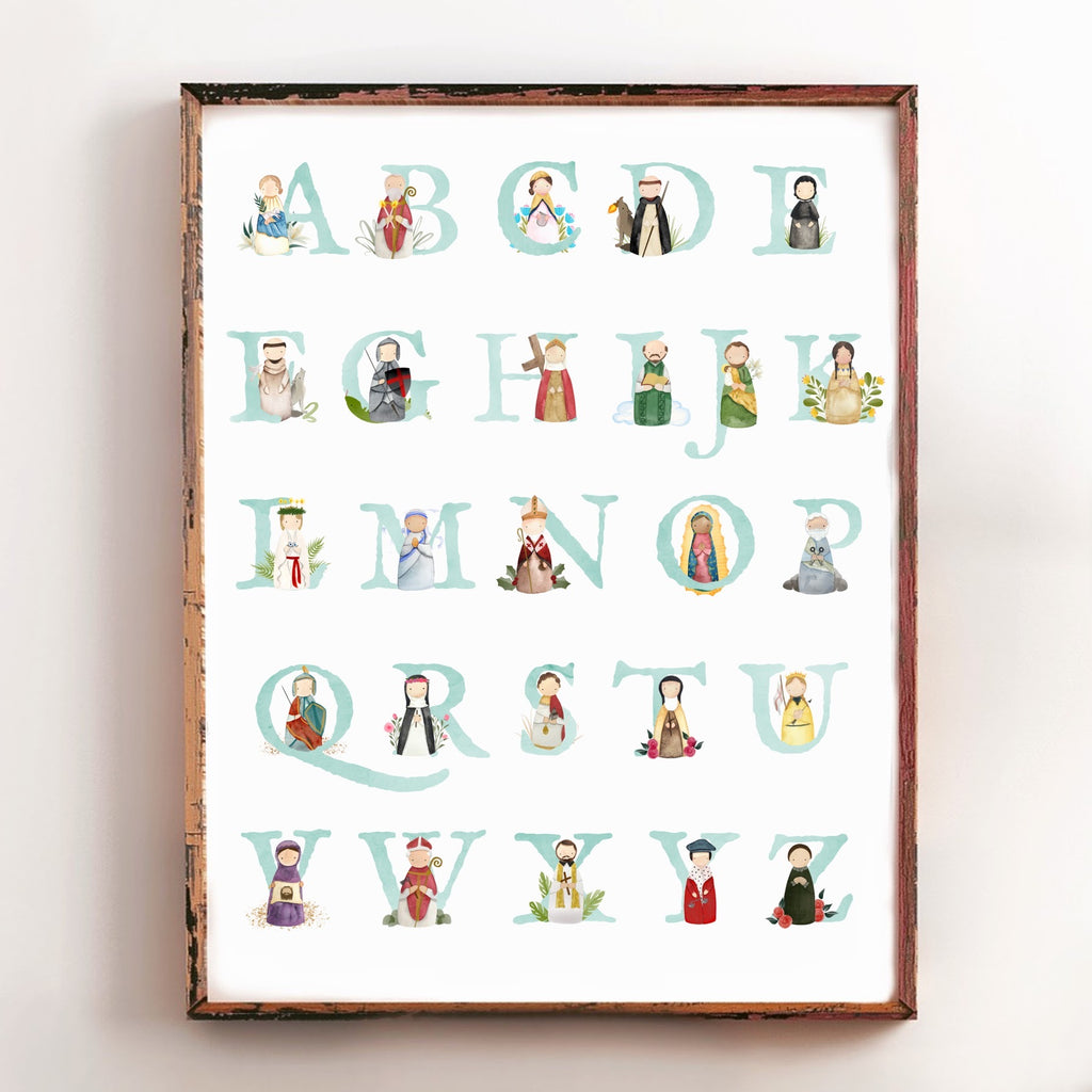 Alphabet Saints Poster - NEUTRAL (16x20)