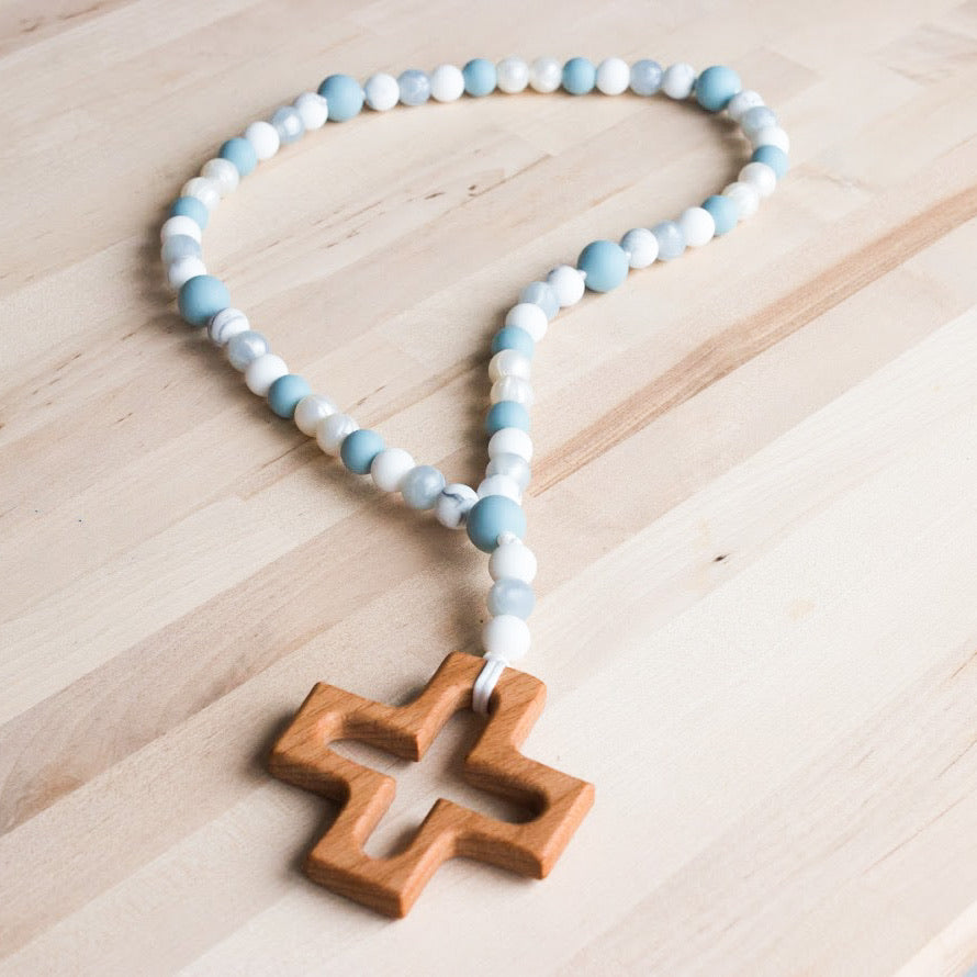 Rosary for Littles in Blue Quartz