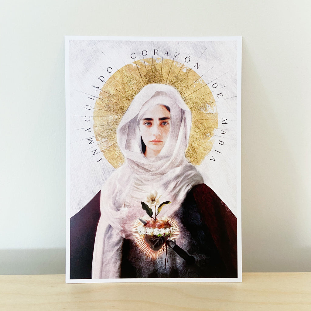 *SLIGHTLY IMPERFECT* 'Immaculate Heart of Mary' Print (5x7)