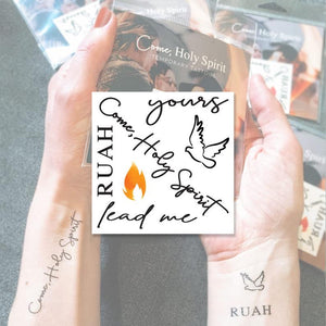 'Come Holy Spirit' Temporary Tattoos