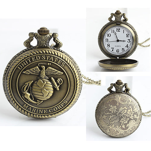 Mr. Black's U.S Eagles Marine Pocket Watch - Mr. Black's Store