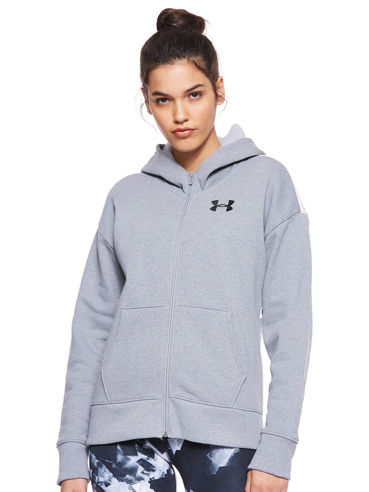 Under Armour Women's Originators Fleece Hooded Fz Lc Logo Jacket