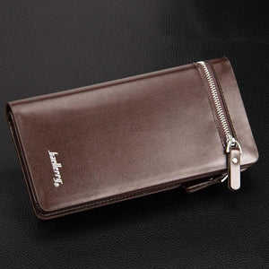Baellerry Double Zipper Leather Wallet