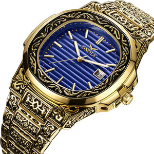 Mr. Black's Luxury Gold Classic Wrist Watch For Men - Mr. Black's Store