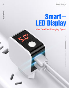 USB Charger With LED Display