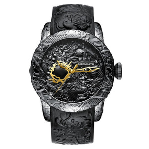 Mr. Black's Gold Dragon Mechanical Watch - Mr. Black's Store