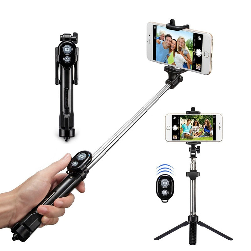 Mr. Black's Bluetooth Selfie Stick With Remote - Mr. Black's Store