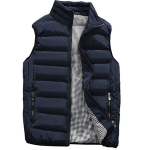 Mr. Black's Sleeveless Warm Cotton-Padded Waistcoat - Mr. Black's Store