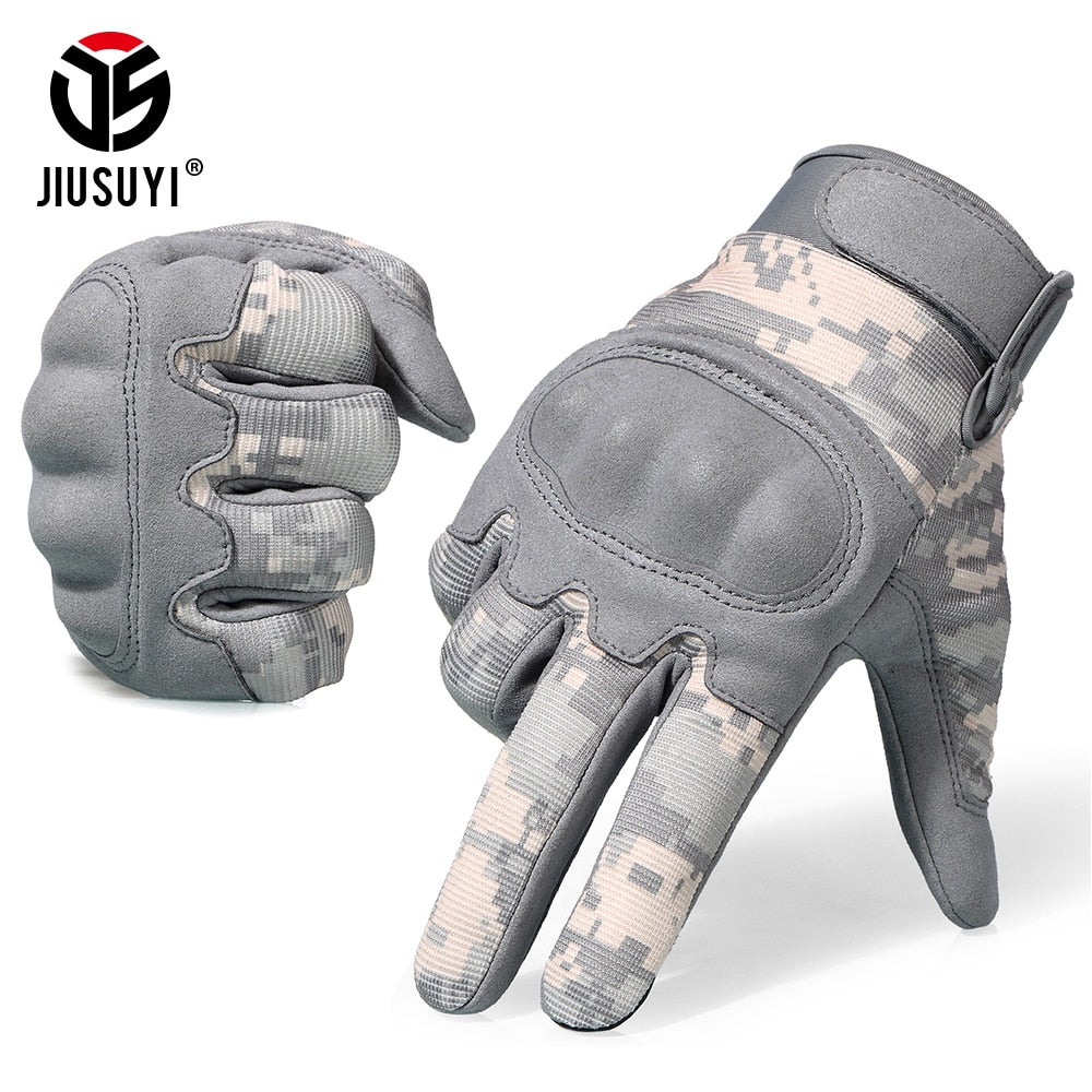 Camouflage Hard Knuckle Tactical Gloves