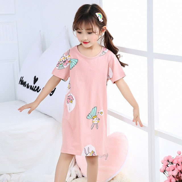 Cartoon Printed Girls Sleepwear