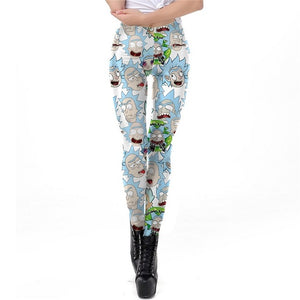 Cartoon Style Printed Leggings