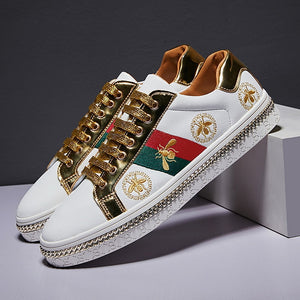 Superstar Luxury Bee Embroidery Shoes (Unisex)