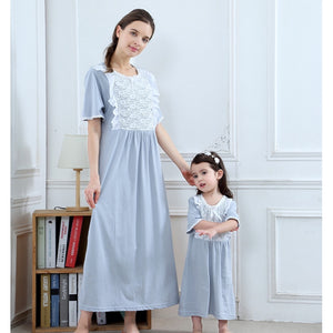 Mother-Child Elegant Sleepwear