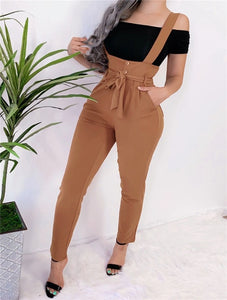 Bandage Design Button Pocket Trouser
