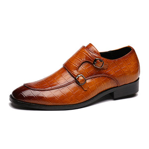 Crocodile Pattern Business Shoes
