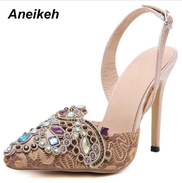 Mr. Black's Diamond Beaded Heels by Aneikeh - Mr. Black's Store