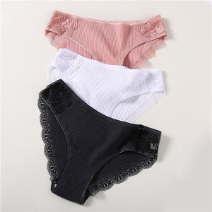 Mr. Black's Low-Rise Cotton Panties 3Pcs - Mr. Black's Store