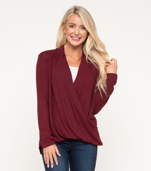 Warm Me Up Sweater in Dark Ruby