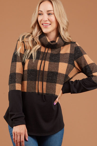 Taupe Plaid Pullover
